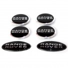 Range Rover Wheel Cap 4pcs & 2pcs Oval Badges - 1 SET